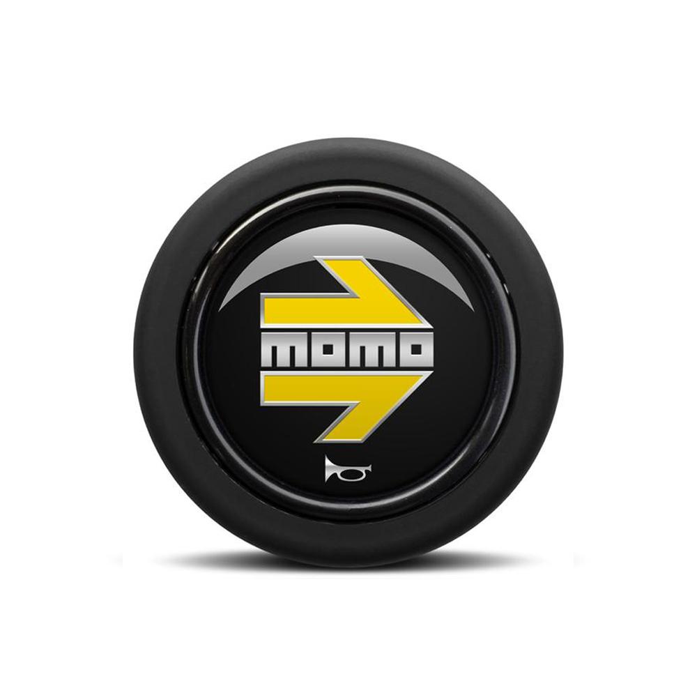 MOMO ARROW Polished Black/Yellow (Round Lip) at FUEL AUTOTEK