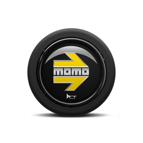 MOMO ARROW Polished Black/Yellow (Round Lip)