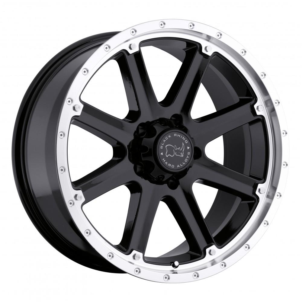 4X BLACK RHINO MOAB BLACK 20X9 4X4 WHEELS FITS HILUX PRADO RANGER COLORADO at FUEL AUTOTEK