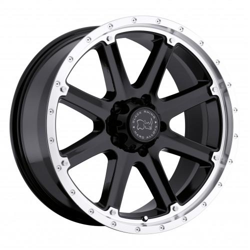 4X BLACK RHINO MOAB BLACK 20X9 4X4 WHEELS FITS HILUX PRADO RANGER COLORADO