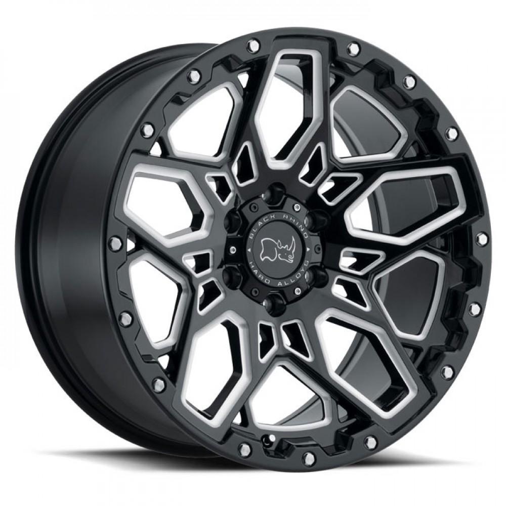 4X BLACK RHINO SHRAPNEL BLACK 18X9.5 4X4 WHEELS FITS HILUX PRADO RANGER COLORADO at FUEL AUTOTEK