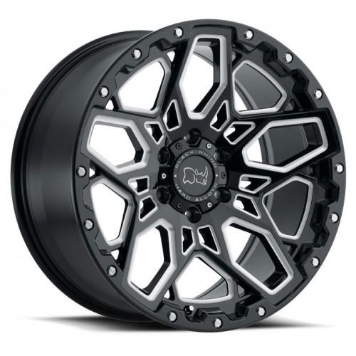 4X BLACK RHINO SHRAPNEL BLACK 18X9.5 4X4 WHEELS FITS HILUX PRADO RANGER COLORADO