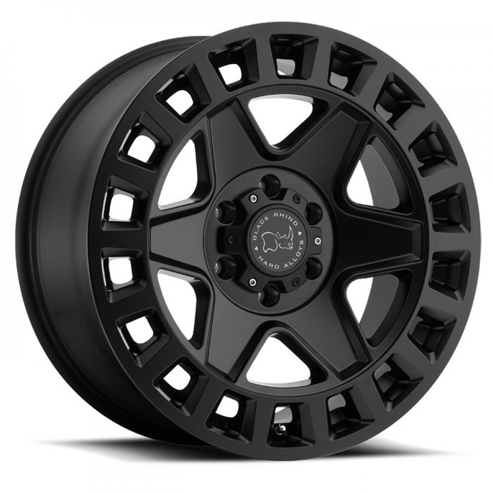 4X BLACK RHINO YORK BLACK 18X9 4X4 WHEELS FITS HILUX PRADO RANGER COLORADO BT-50 at FUEL AUTOTEK