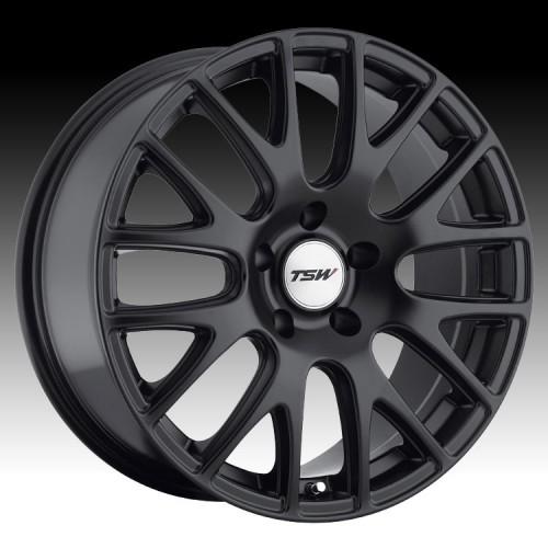 4X TSW MUGELLO BLACK 20X8.5 WHEELS FITS VW GOLF PASSAT MERCEDES A CLASS VITO VAN