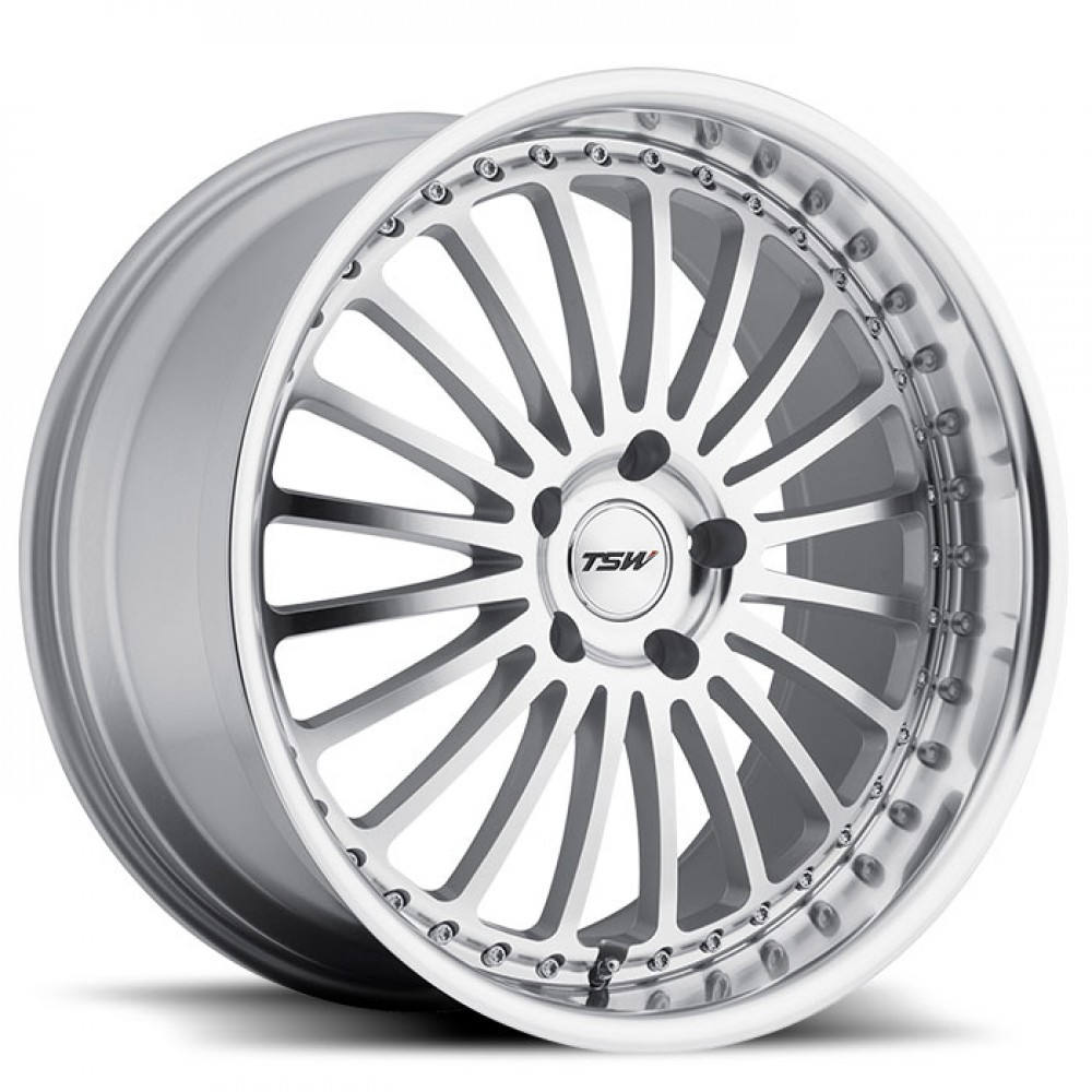 4X TSW SILVERSTONE SILVER 17X8 WHEELS FITS SELECTED EARLY BMW 5 SERIES MODELS at FUEL AUTOTEK