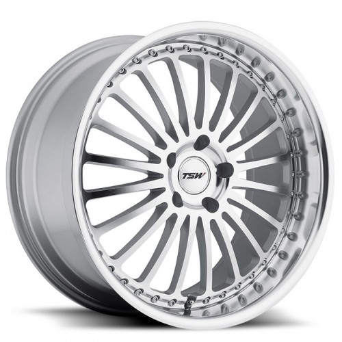 4X TSW SILVERSTONE SILVER 17X8 WHEELS FITS SELECTED EARLY BMW 5 SERIES MODELS