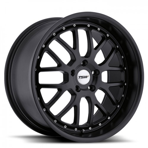 4X TSW VALENCIA BLACK 19X8 WHEELS FITS SELECTED BMW 3 SERIES AND COMMODORE