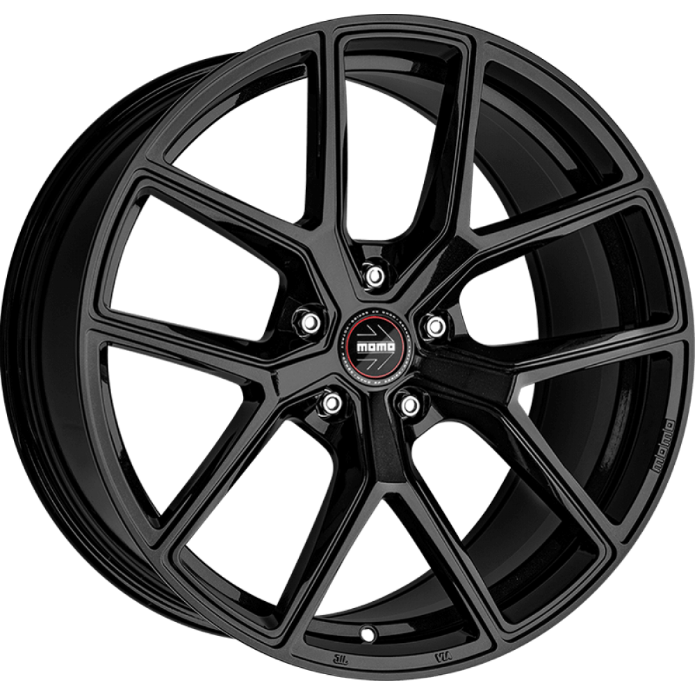 4x MOMO ITALY RF-01 STARDUST GLOSSY BLACK 20x9 20x10 WHEELS FITS FORD MUSTANG GT at FUEL AUTOTEK