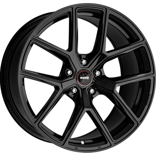 4x MOMO ITALY RF-01 STARDUST GLOSSY BLACK 20x9 20x10 WHEELS FITS FORD MUSTANG GT
